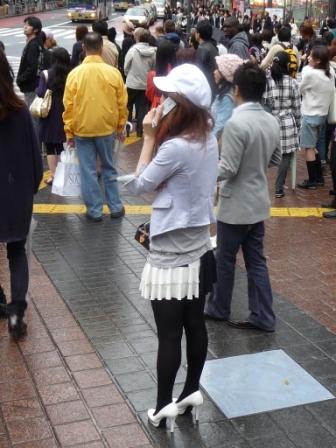 Japanise girl love socks and hill shoes