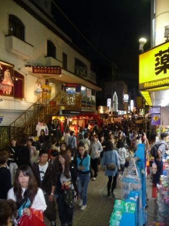 Takeshita street at Shinjuku