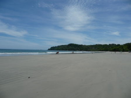 Riding on the Manuel Antonio beach