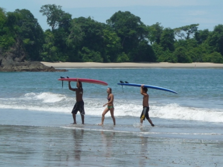 Surfers in Manuel Antonio
