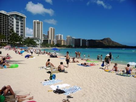 Waikiki central beach