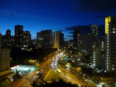 Waikiki by night